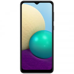 "Smartphone Samsung Galaxy A02 A022M Dual Chip 64GB/3GB Tela 6.5"" Câmeras 13MP + 2MP + 2MP e 5MP"